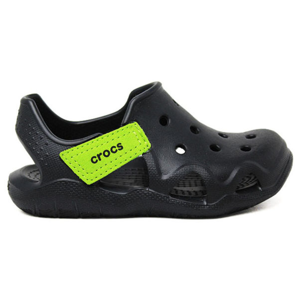 CROCS INF. SWIFTWATER WAVE BLACK/VOLT GREEN