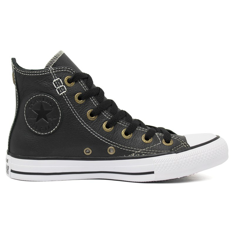 ALL STAR EUROPEAN LEATHER HI PRETO-BRANCO