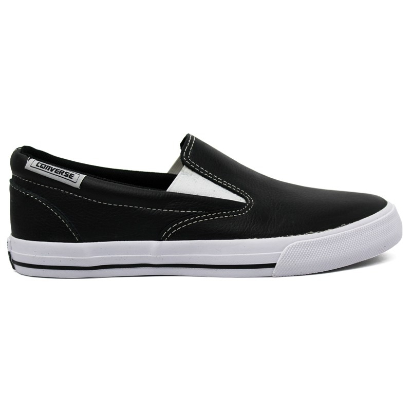 ALL STAR SKIDGRIP LEATHER PRETO/BRANCO