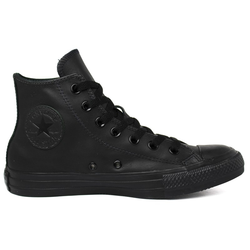 ALL STAR MONOCHROME LEATHER HI PRETO