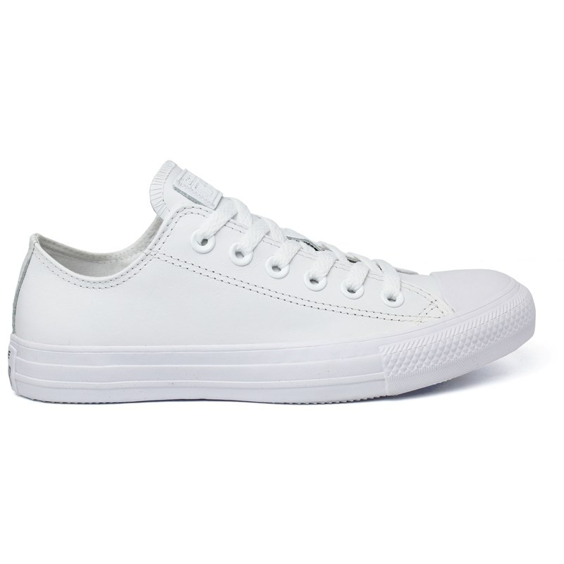 ALL STAR MONOCHROME LEATHER OX BRANCO