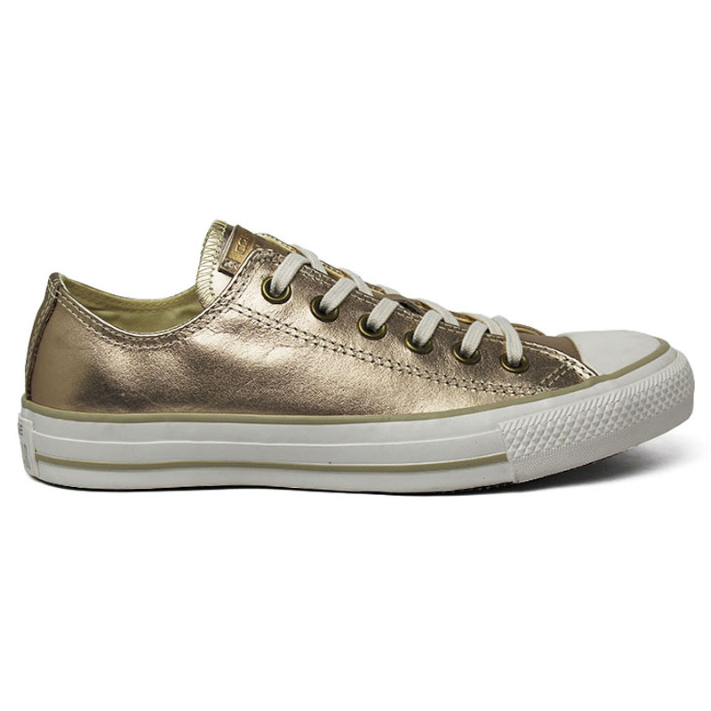 ALL STAR METALLIC LEATHER OX OURO