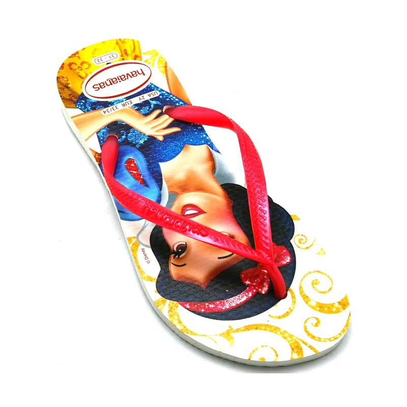 HAVAIANAS KIDS SLIM PRINCESS BRANCO/ROSA