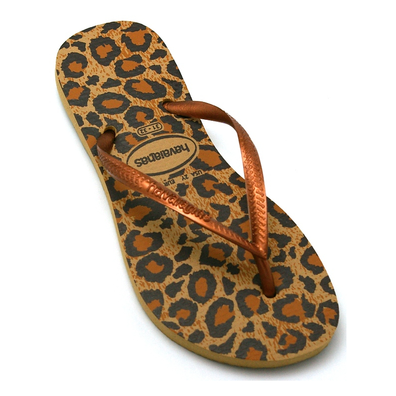 HAVAIANAS KIDS SLIM ANIMALS BEGE