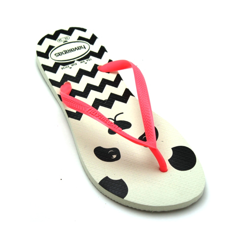 HAVAIANAS KIDS SLIM FASHION PANDA BRANCO
