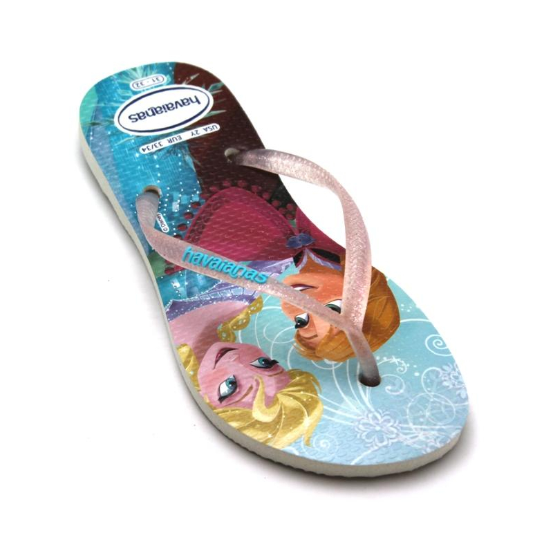 HAVAIANAS KIDS SLIM PRINCESS FROZEN BRANCO