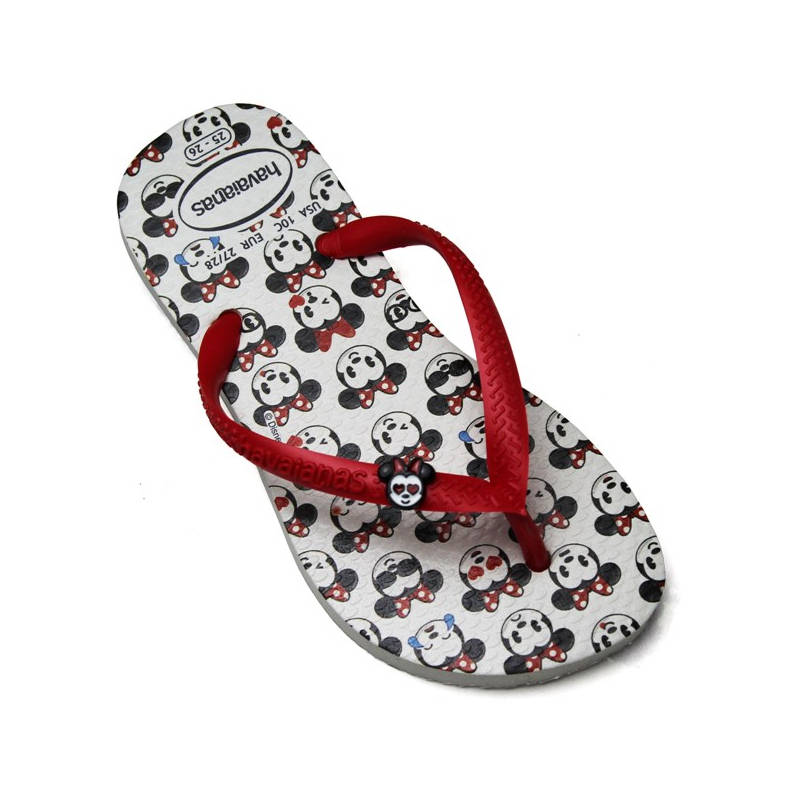 HAVAIANAS KIDS SLIM DISNEY COOL BRANCO/VERM RUBI