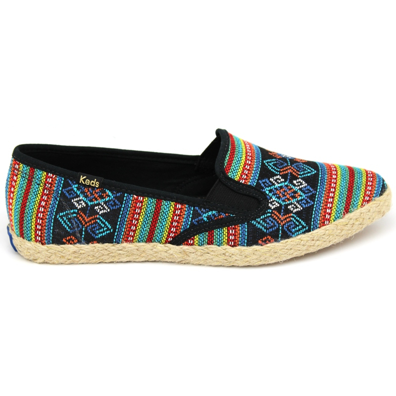KEDS POINTER SLIP FOLK PRETO