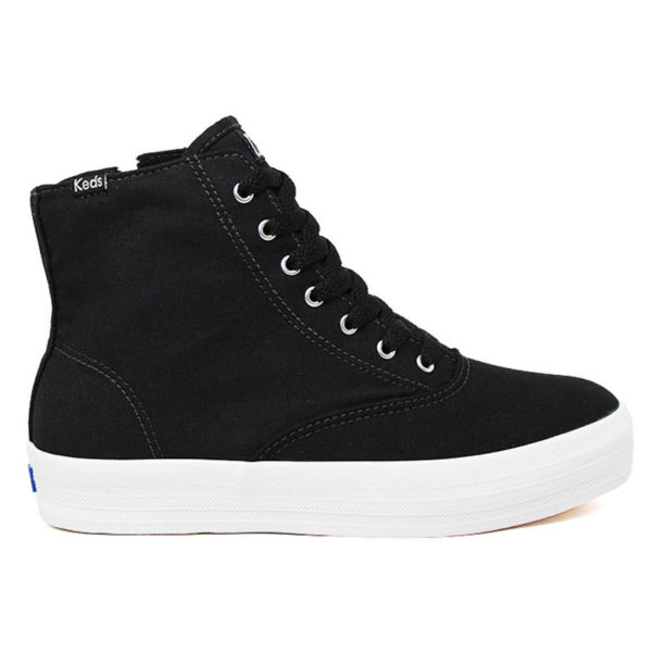 TÊNIS KEDS TRIPLE HI ZIP CANVAS PRETO