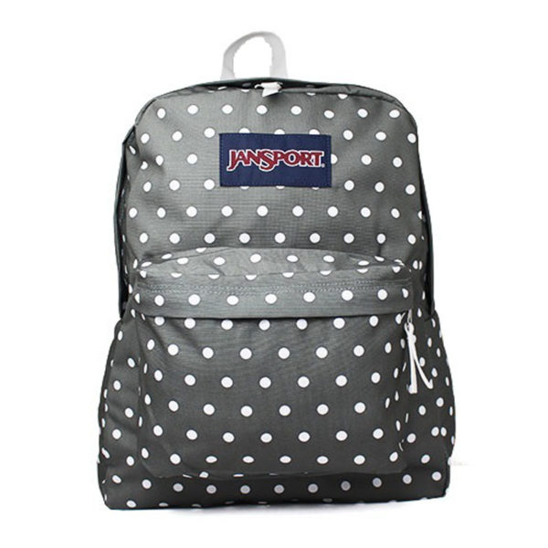 MOCHILA JANSPORT SUPERBREAK SHADY GREY/WHITE DOTS