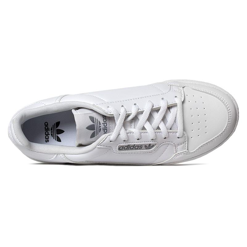 Tenis adidas continental 80 j branco cinza 2
