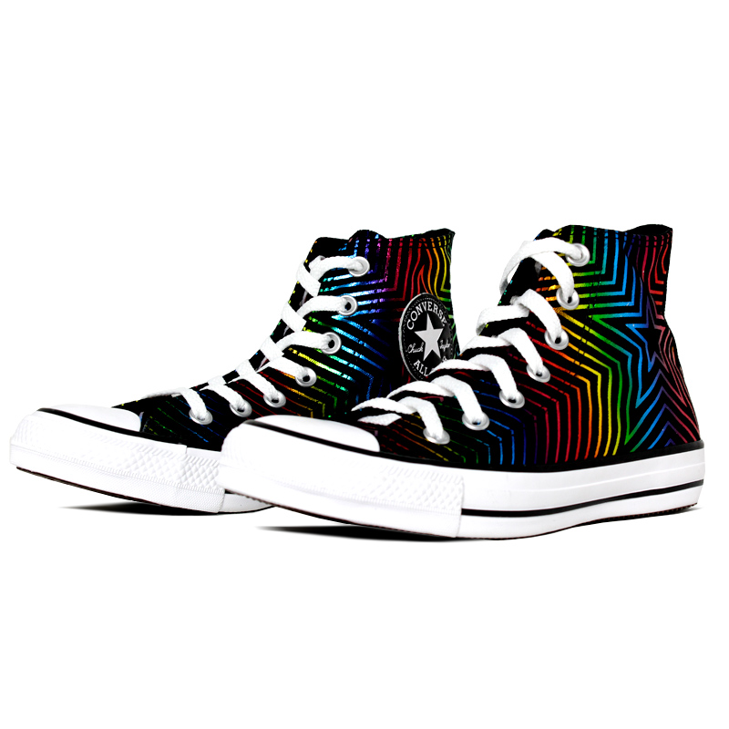 All star patch bordado color neon star hi preto 1