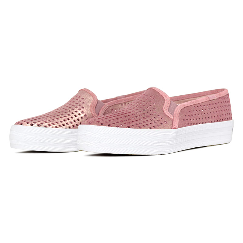 Keds triple decker suede summer rosa 1