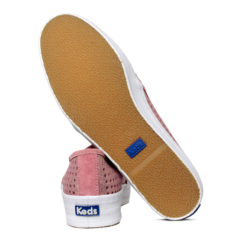 Keds triple decker suede summer rosa 3