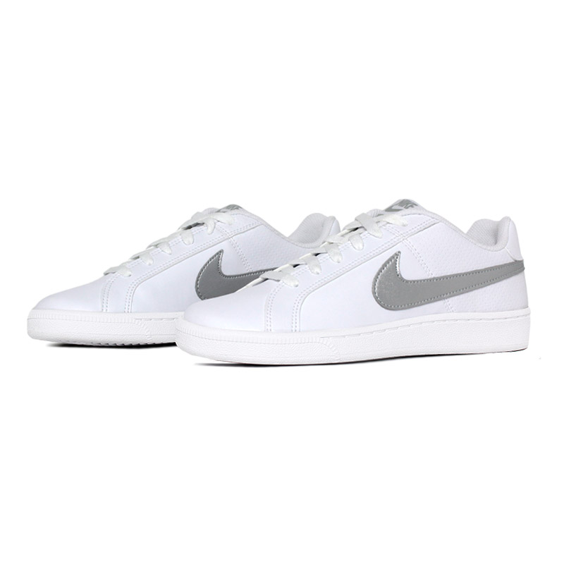 Nike court royale white metalic silver 1
