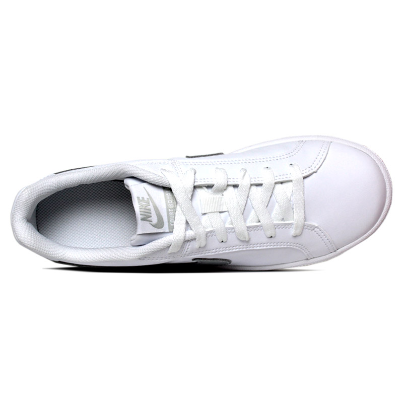 Nike court royale white metalic silver 2