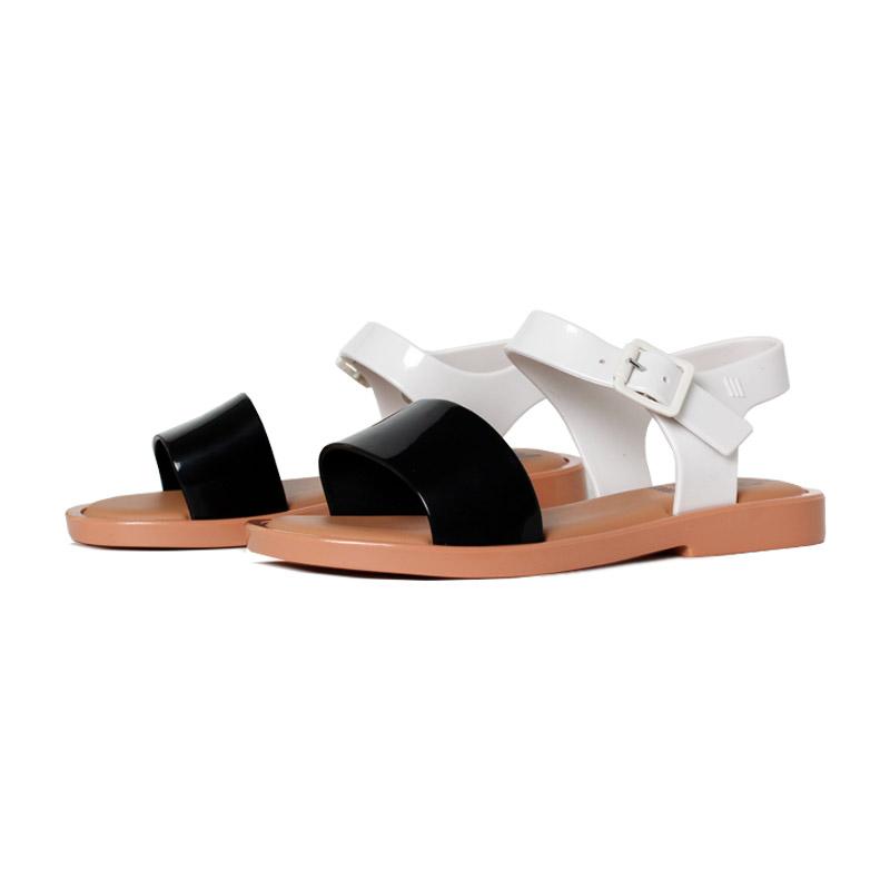 Melissa mel mar sandal preto branco 1