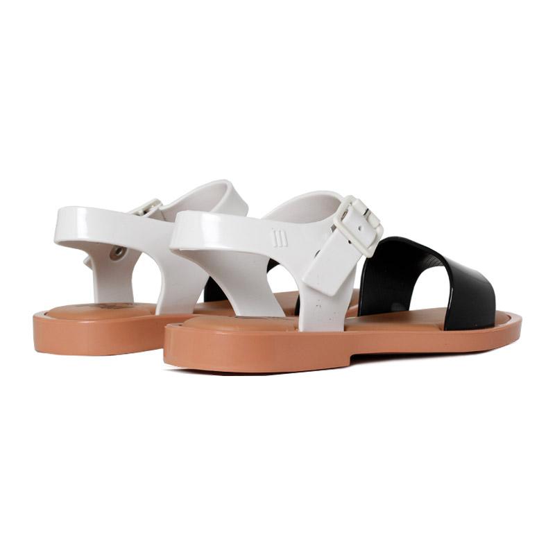 Melissa mel mar sandal preto branco 2