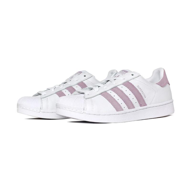 Tenis adidas superstar branco rosa 1