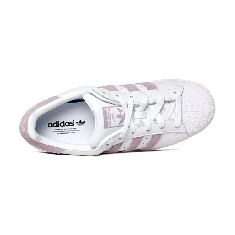 Tenis adidas superstar branco rosa 2
