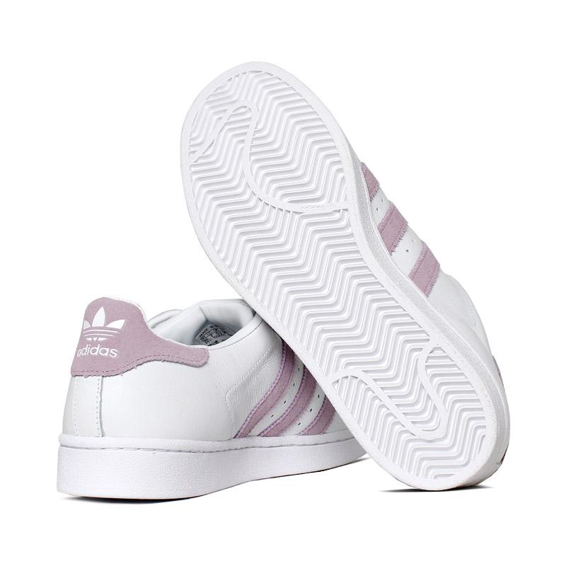 Tenis adidas superstar branco rosa 3