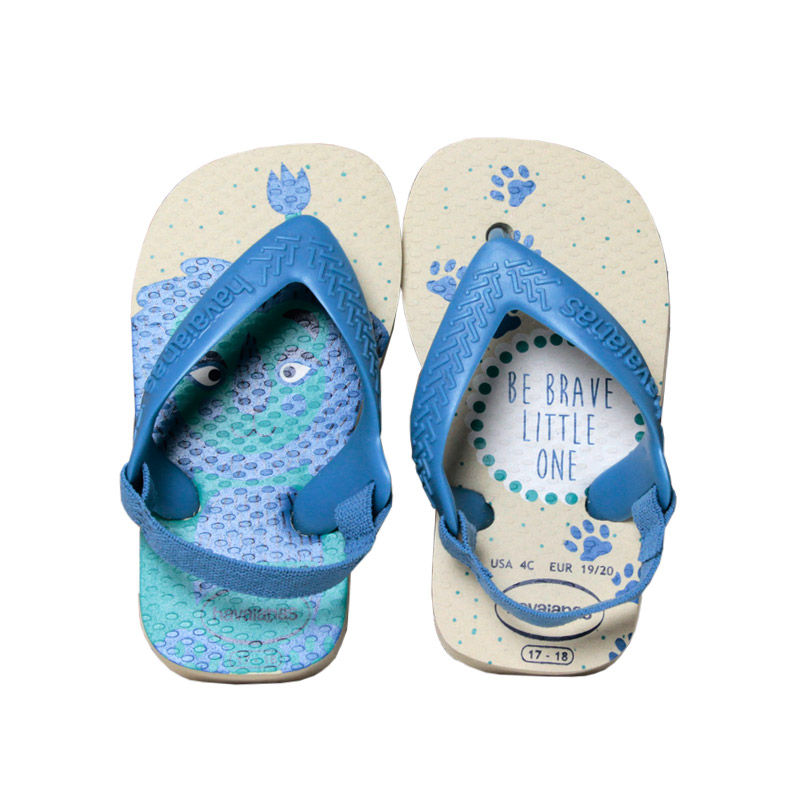 Havaianas new baby pets palha azul aco 1
