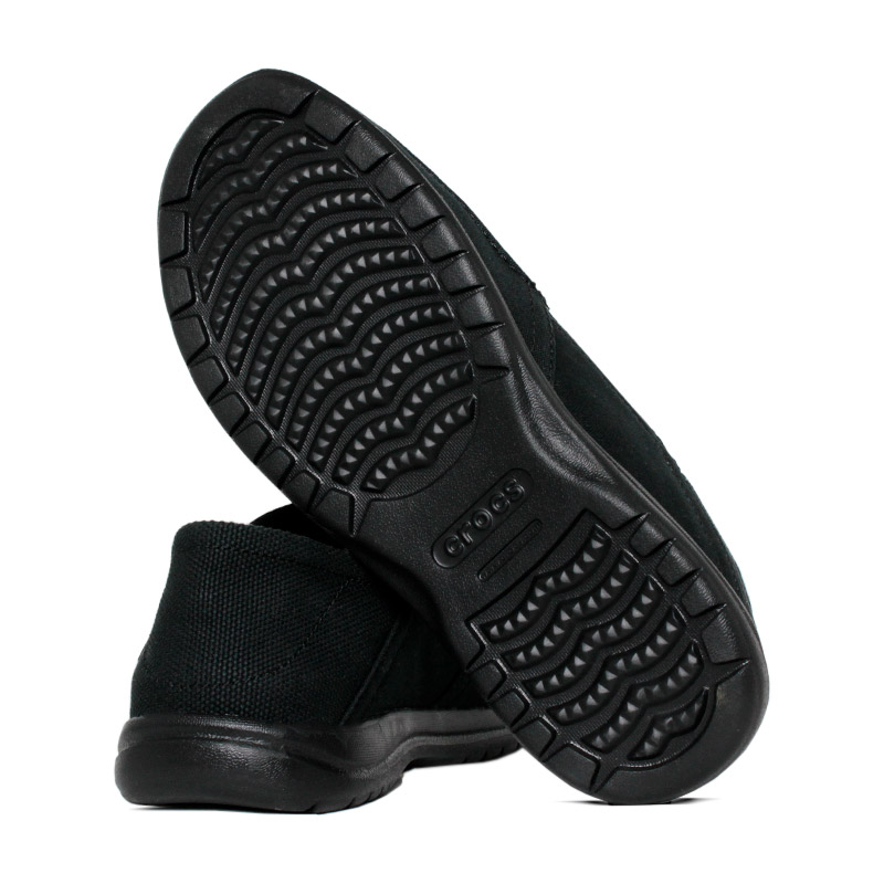 Crocs santa cruz convertible slip on black 3