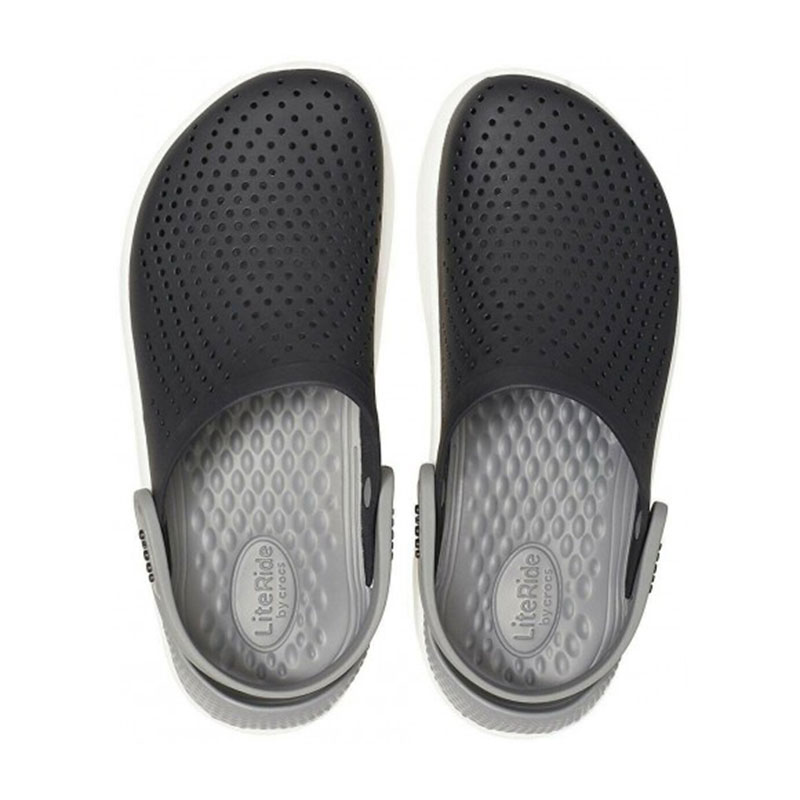 Crocs literide clog smoke black 2