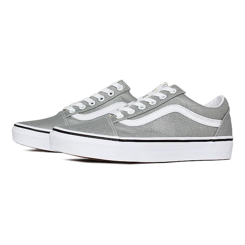 Tenis vans old skool silver true white 1