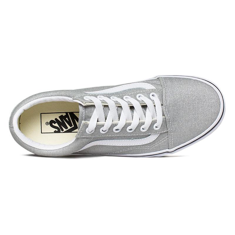 Tenis vans old skool silver true white 2