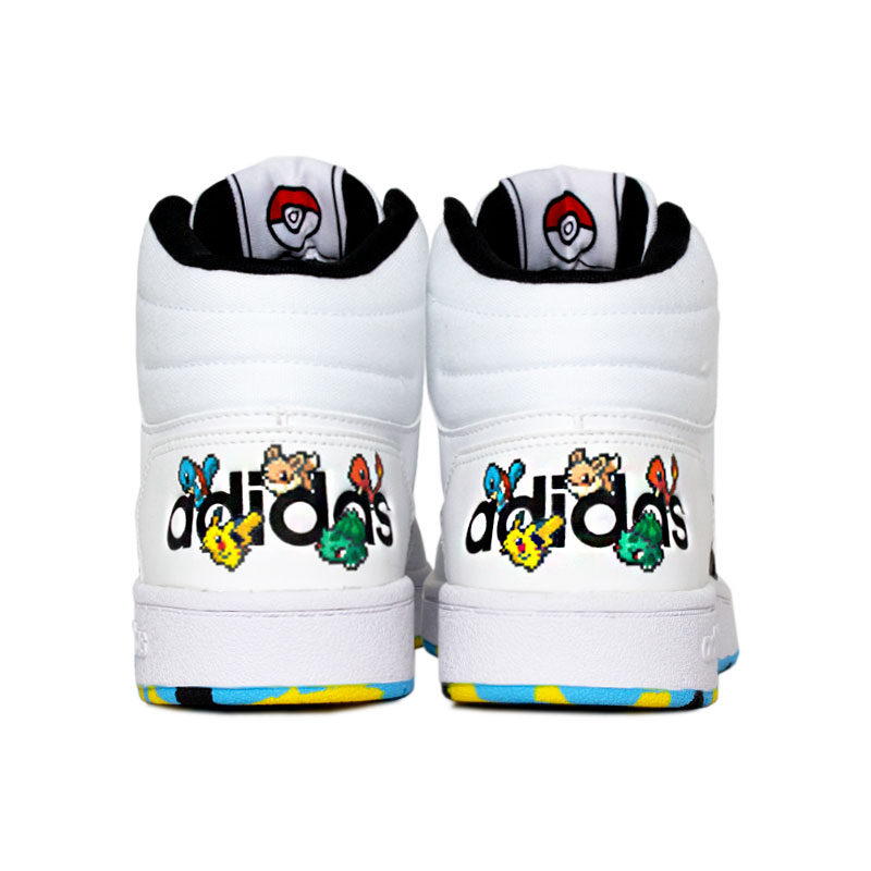 Tenis adidas hoops mid white color 1