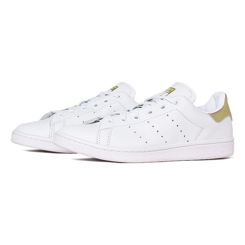 Tenis adidas stam smith white gold 1