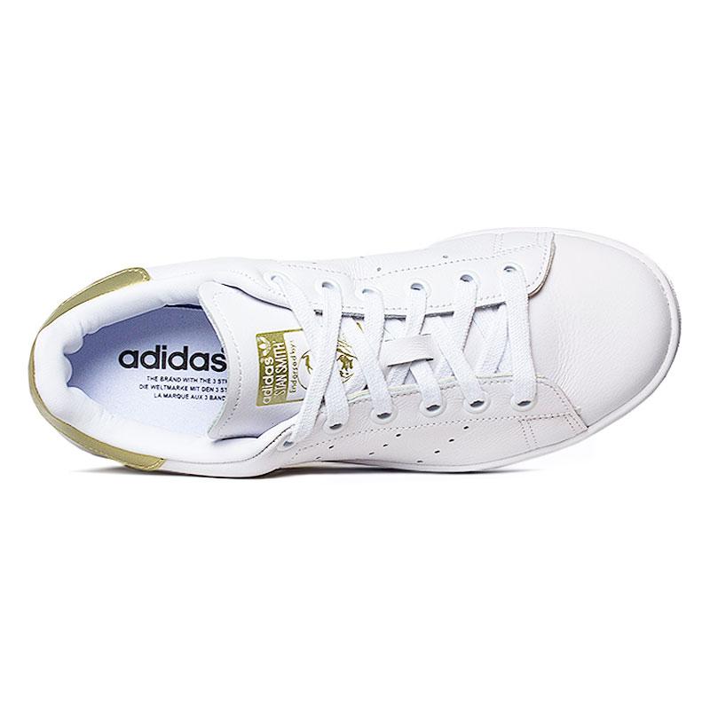 Tenis adidas stam smith white gold 2