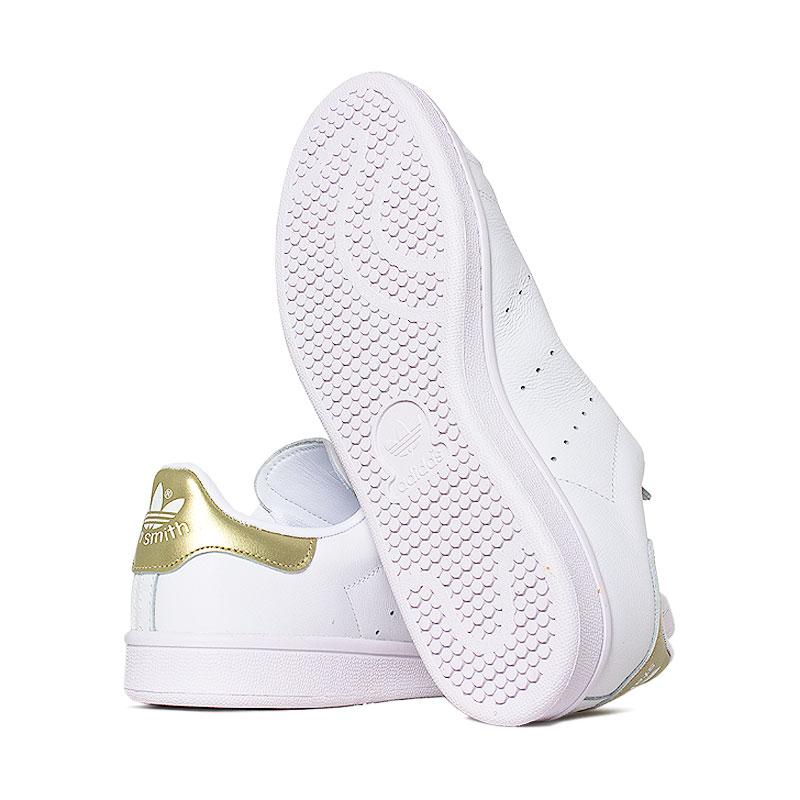 Tenis adidas stam smith white gold 3