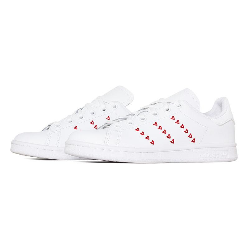 Tenis adidas stam smith hearts jr white ed 1