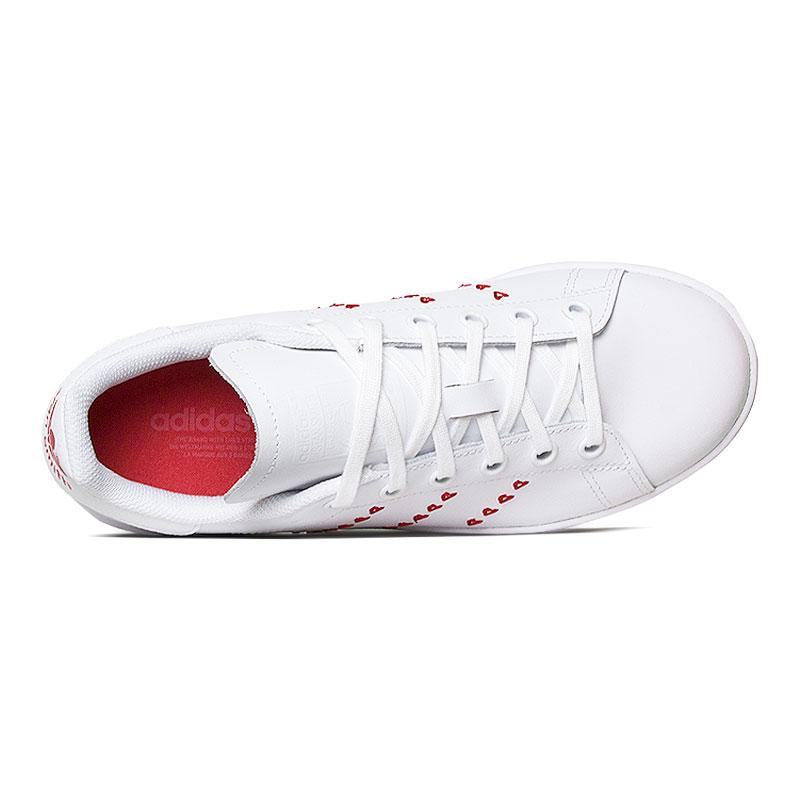 Tenis adidas stam smith hearts jr white ed 2