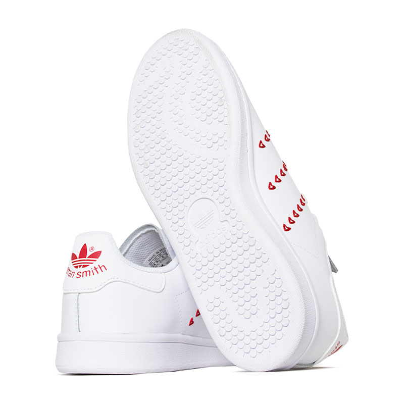 Tenis adidas stam smith hearts jr white ed 3