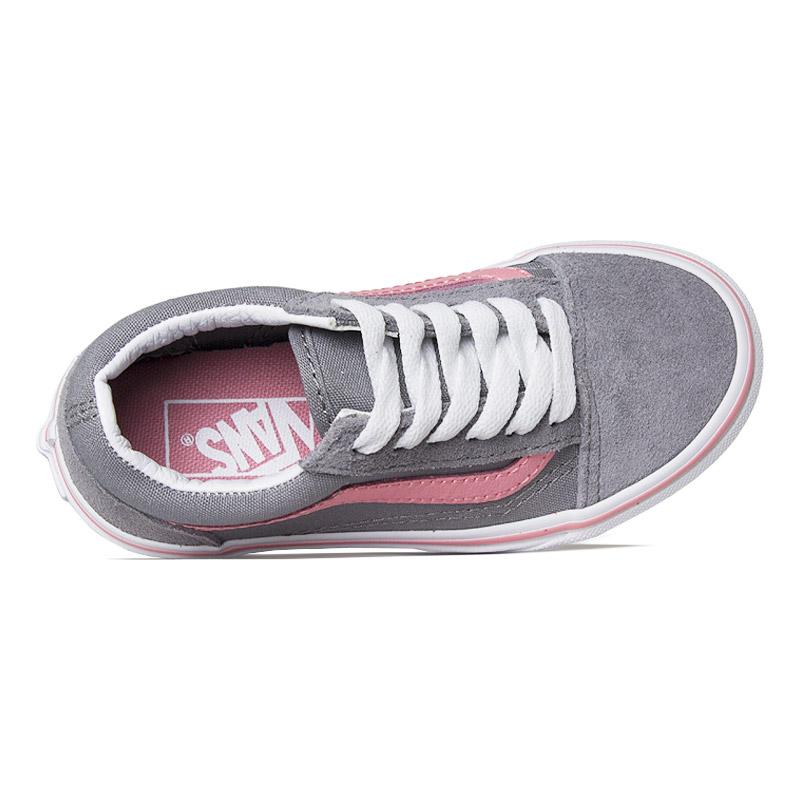 Tenis vans kids old skool pink icing frost gray 2