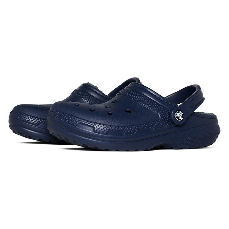 Crocs classic lined clog navy charcoal 1