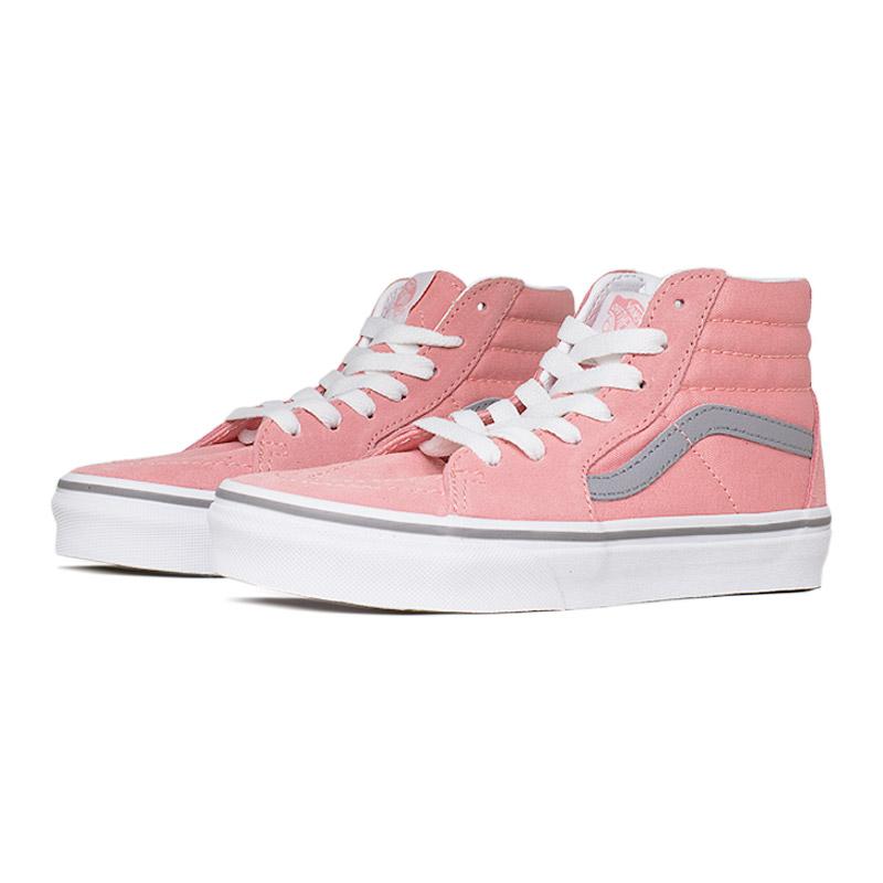 Tenis vans kids sk8 hi pink icing frost gray 1