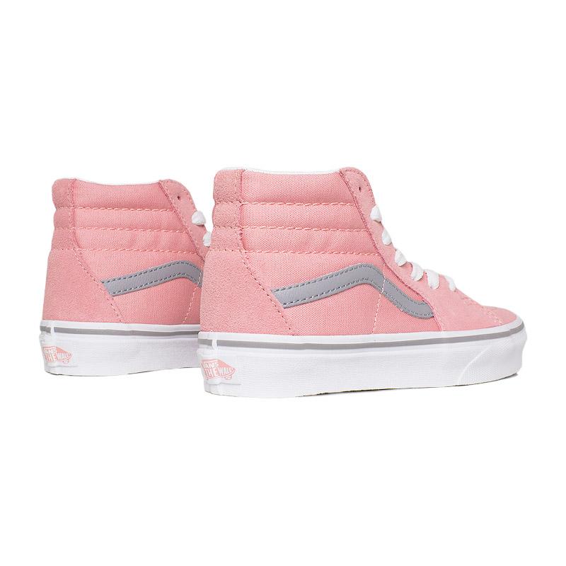Tenis vans kids sk8 hi pink icing frost gray 2