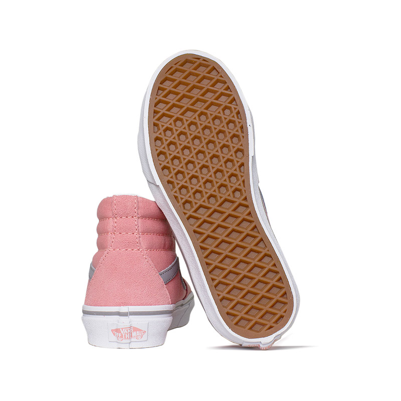 Tenis vans kids sk8 hi pink icing frost gray 3