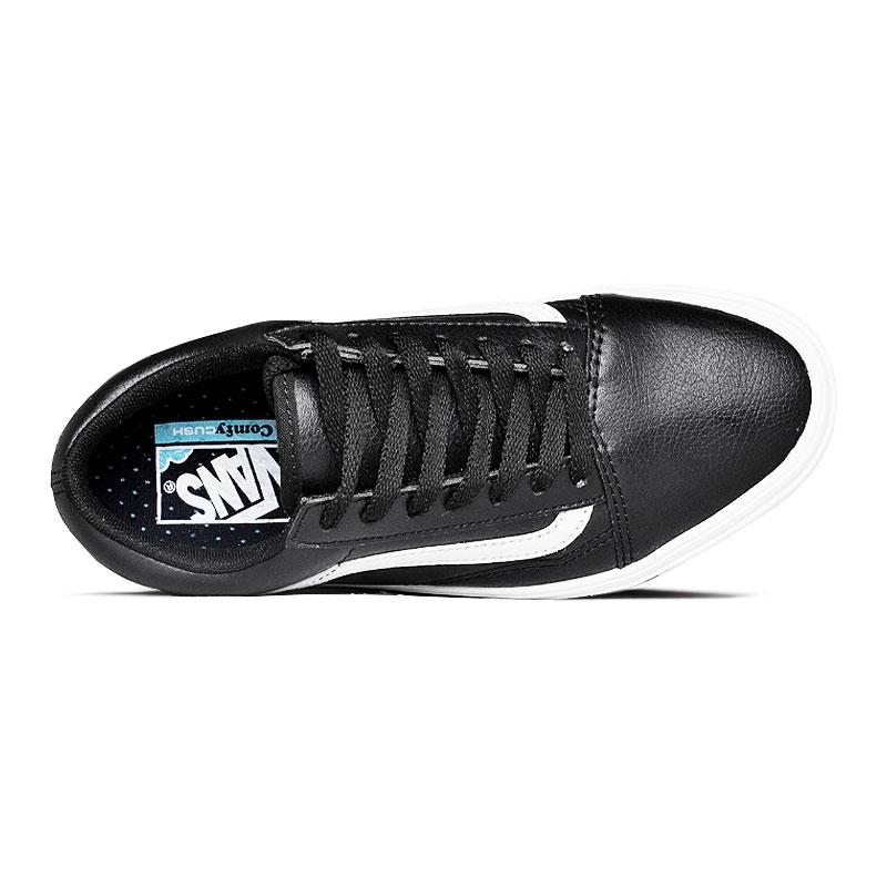 Tenis comfycush old skool black leather 2