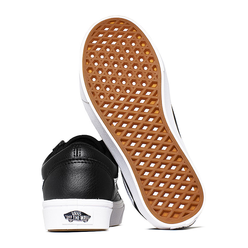 Tenis comfycush old skool black leather 3