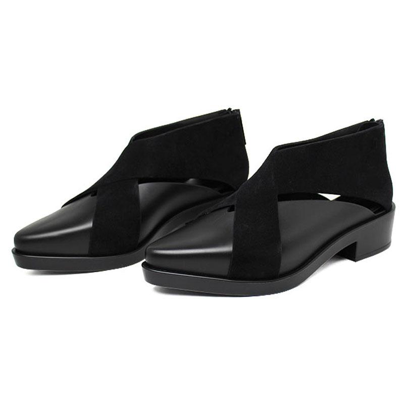 Melissa x boot preto flocado 1