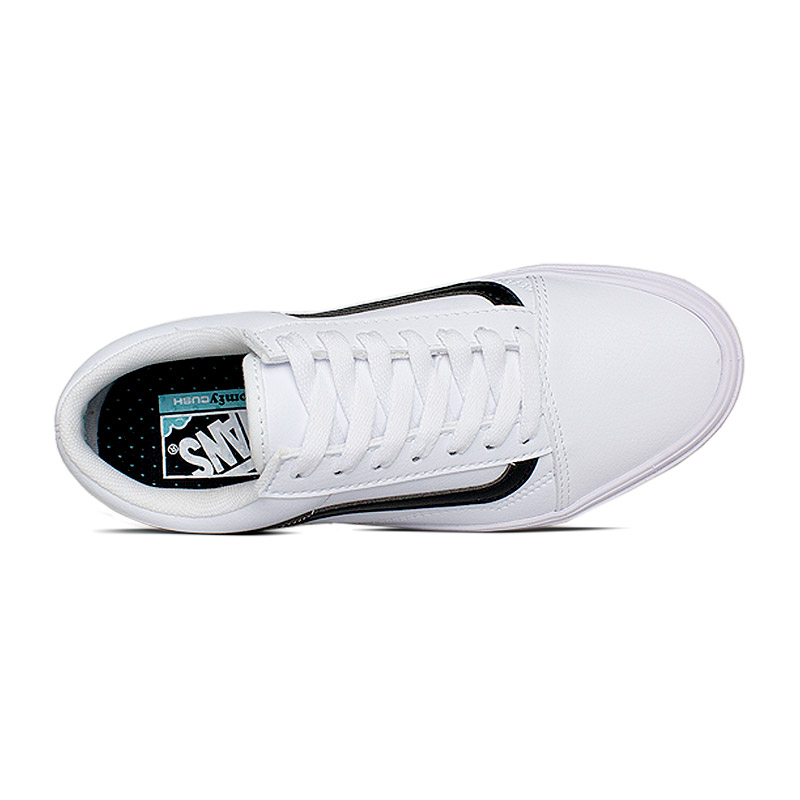 Vans comfycush old skool true white leather 2