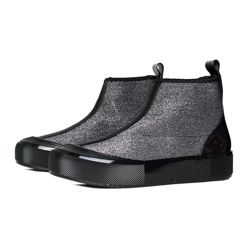Melissa joy boot lurex preto prata 1