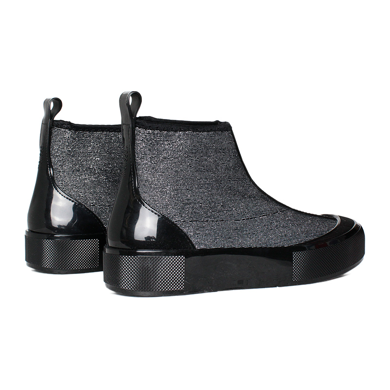 Melissa joy boot lurex preto prata 3