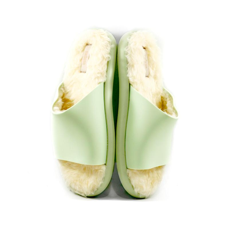 Melissa fluffy slide verde 4
