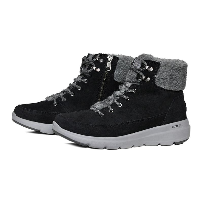 Skechers glacial ultra boot preto cinza 1